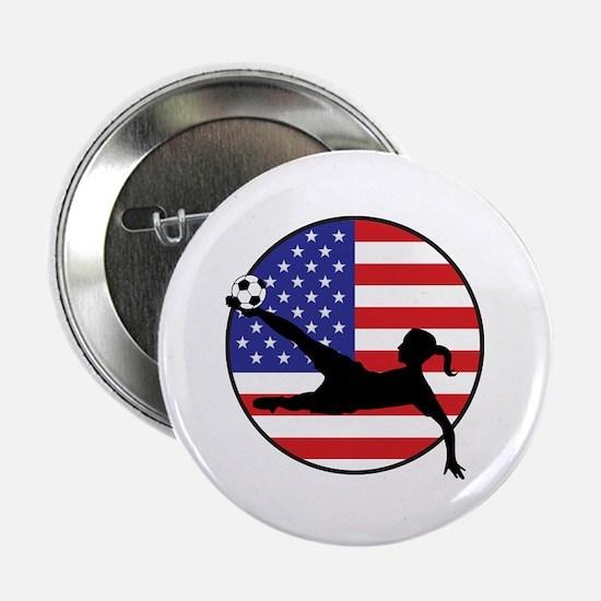 """US Women's Soccer 2.25"""" Button"""