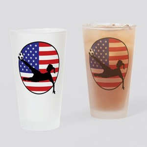 US Women's Soccer Pint Glass