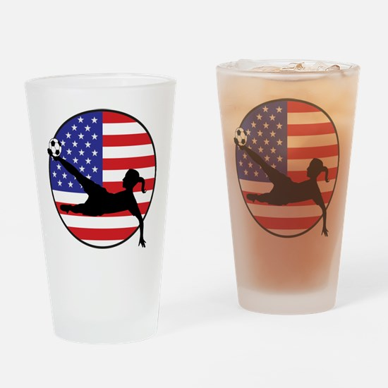 US Women's Soccer Pint Glass