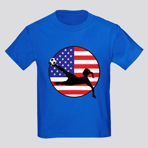 US Women's Soccer Kids Dark T-Shirt