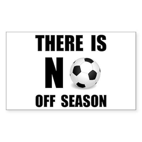No Off Season Soccer Black Sticker