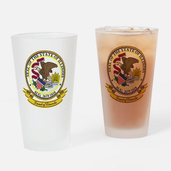 Illinois Seal Drinking Glass