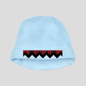 twin peaks chevron Baby Hat