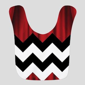 twin peaks chevron Polyester Baby Bib