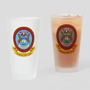Michigan Seal Drinking Glass