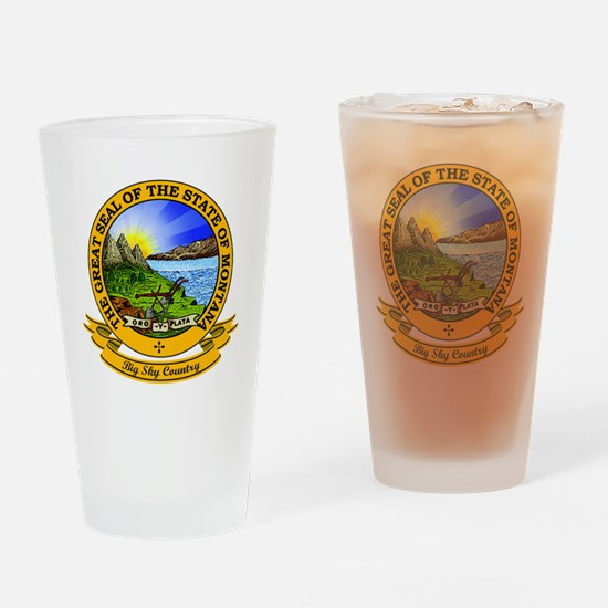 Montana Seal Drinking Glass