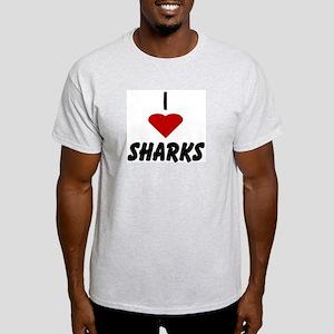 I Heart Sharks Ash Grey T-Shirt