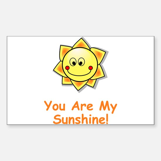 Unique Smiling sun Sticker (Rectangle 10 pk)