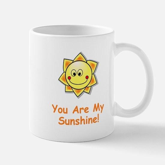 You Are My Sunshine Orange Mugs