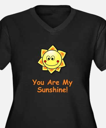 Funny You are my sunshine Women's Plus Size V-Neck Dark T-Shirt