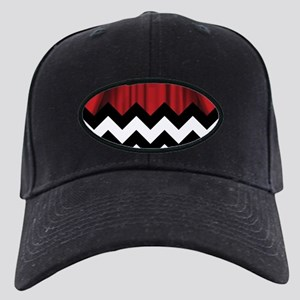 twin peaks chevron Black Cap with Patch