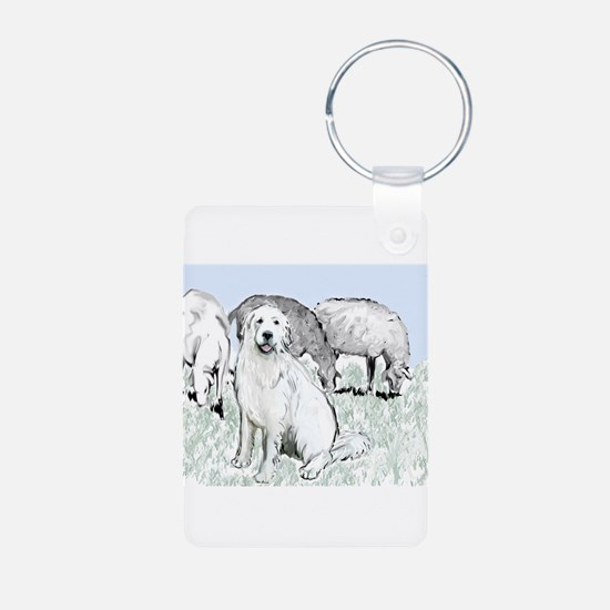 Great Pyr Pastoral Aluminum Photo Keychain