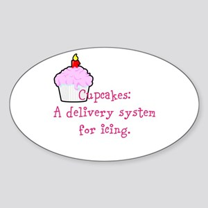 Cupcakes are: Sticker (Oval)