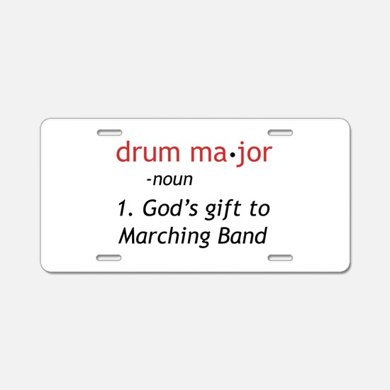 Definition of Drum Major Aluminum License Plate