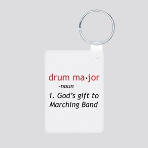 Definition of Drum Major Aluminum Photo Keychain