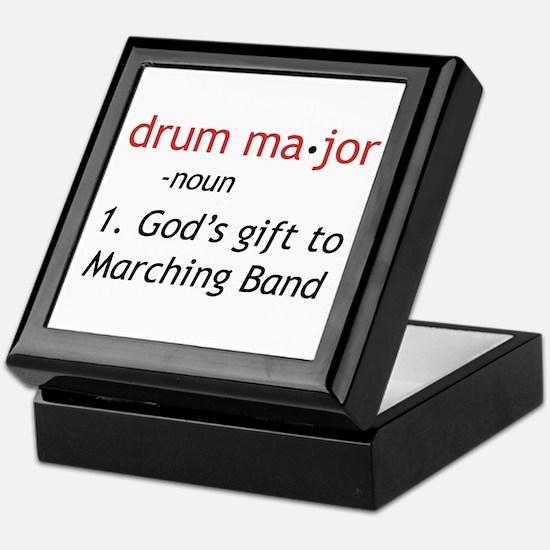 Definition of Drum Major Keepsake Box