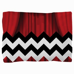 twin peaks chevron Pillow Sham