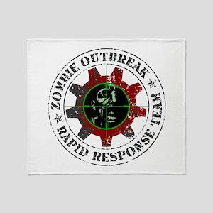 Zombie Outbreak Rapid Response Throw Blanket