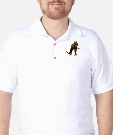 T Rex w AK Golf Shirt