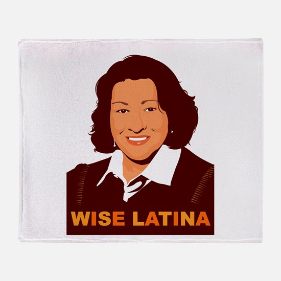 Sotomayor Wise Latina Throw Blanket