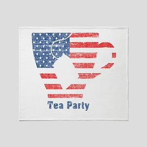 American Tea Cup Throw Blanket