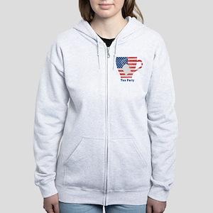 American Tea Cup Women's Zip Hoodie