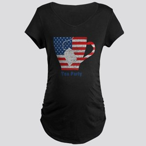 American Tea Cup Maternity Dark T-Shirt