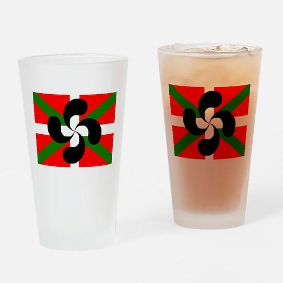 Ikurrina Lauburu Drinking Glass