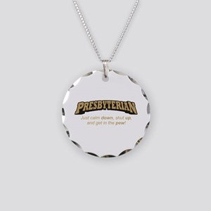 Presbyterian / Pew Necklace Circle Charm