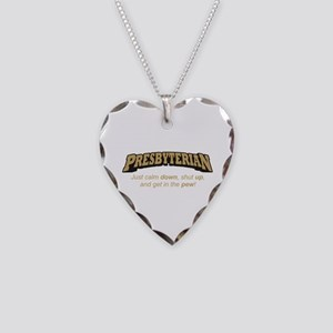 Presbyterian / Pew Necklace Heart Charm