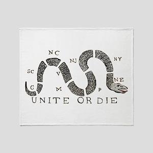 Unite or Die Throw Blanket