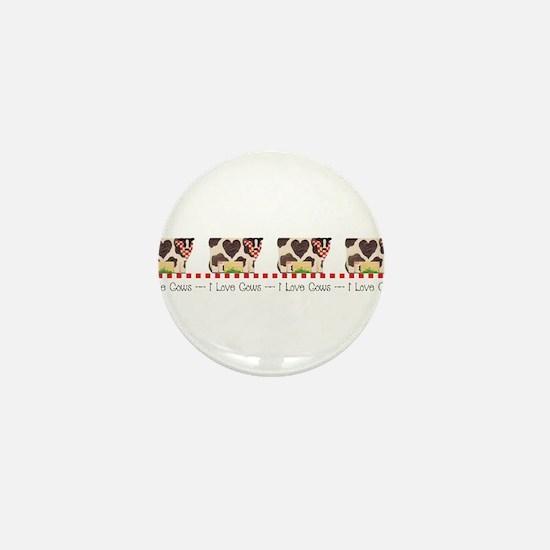 I Love Cows 1 Mini Button