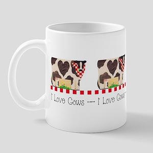 I Love Cows 1 Mug