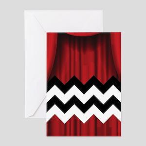 twin peaks chevron Greeting Cards