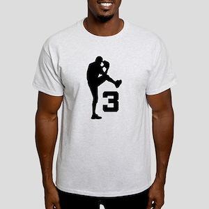 Baseball Pitcher Number 3 Light T-Shirt