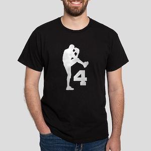Baseball Pitcher Number 4 Dark T-Shirt