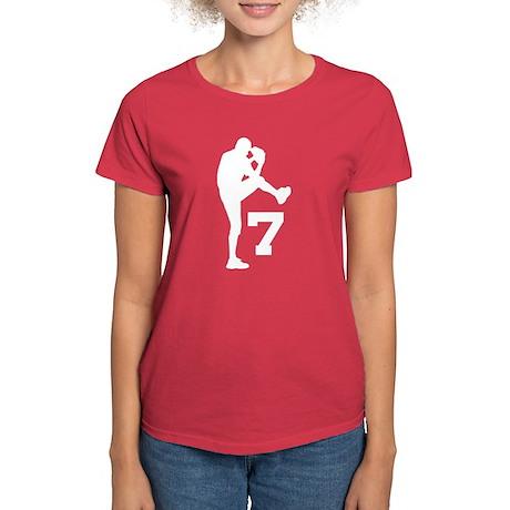 Baseball Pitcher Number 7 Women's Dark T-Shirt