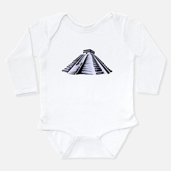 Temple of Kukulkan Icon Long Sleeve Infant Bodysui