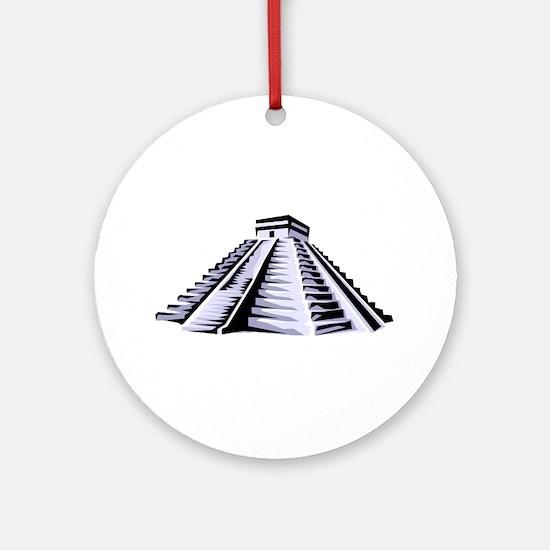 Temple of Kukulkan Icon Ornament (Round)