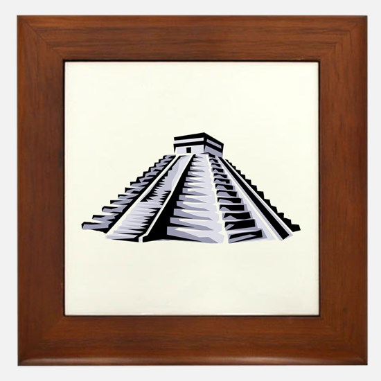 Temple of Kukulkan Icon Framed Tile