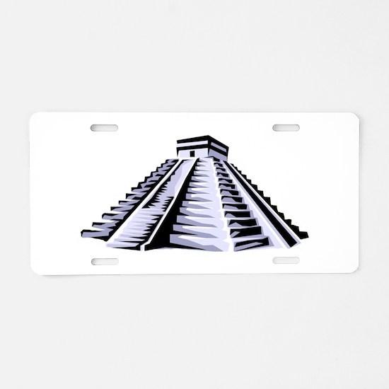 Temple of Kukulkan Icon Aluminum License Plate