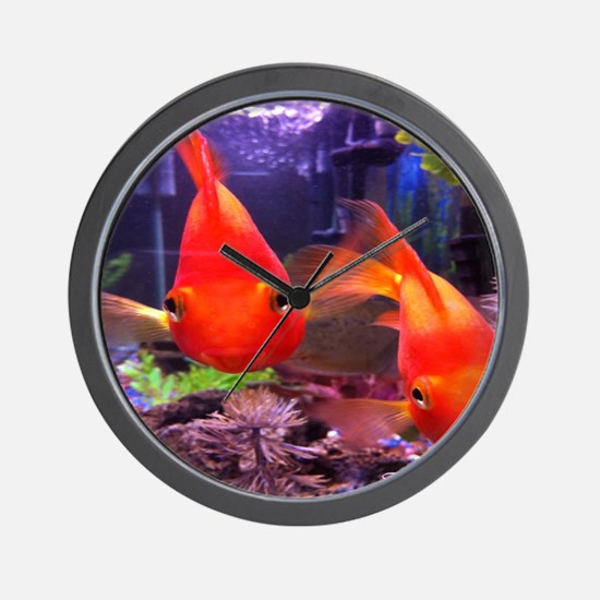 Parrot Fish Wall Clock