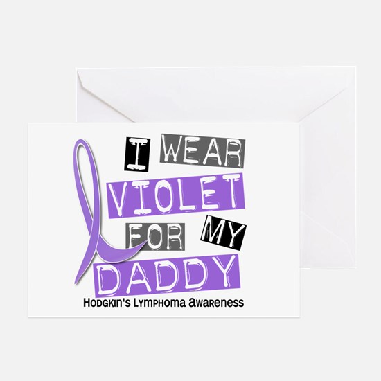 I Wear Violet 37 Hodgkin's Lymphoma Greeting Card