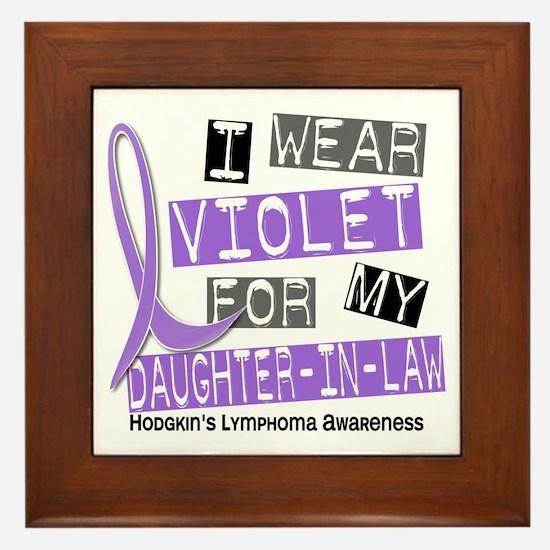 I Wear Violet 37 Hodgkin's Lymphoma Framed Tile