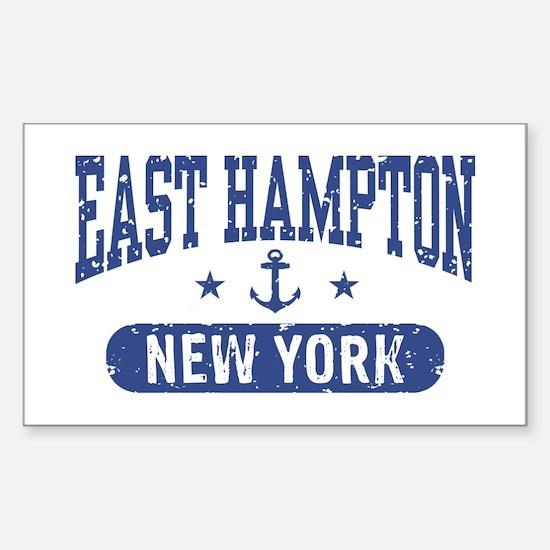 East Hampton New York Sticker (Rectangle)