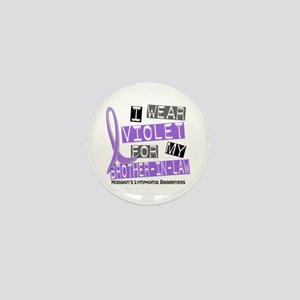 I Wear Violet 37 Hodgkin's Lymphoma Mini Button