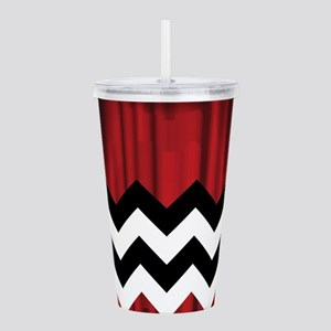 twin peaks chevron Acrylic Double-wall Tumbler