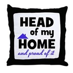 Head of my Home Throw Pillow