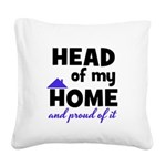 Head of my Home Square Canvas Pillow