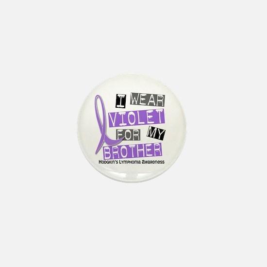 I Wear Violet 37 Hodgkin's Lymphoma Mini Button